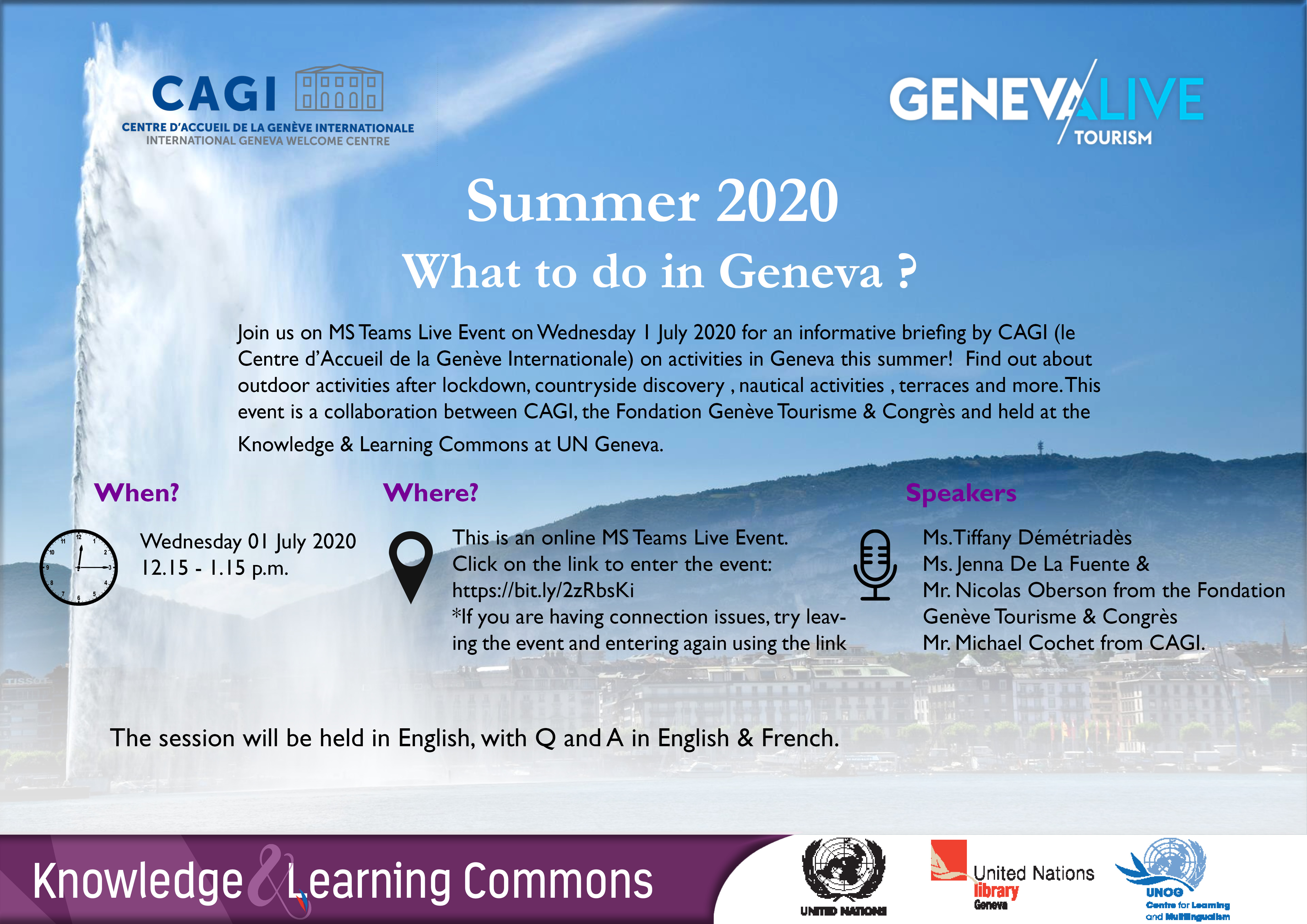 Summer 2020, What to do in Geneva